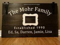 wedding signs/gifts/ guest book /creative silhouette designs
