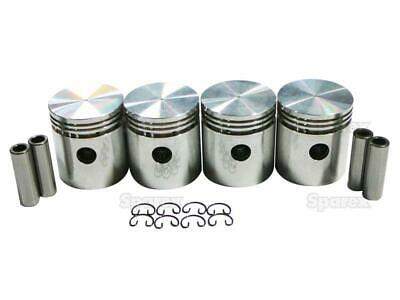 Farmall Ih International Cub .040 Flat Top Pistons Wpins And Retainers