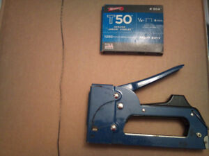 Staple Gun with Supply of Arrow Staples - Used in good condition