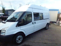 Ford Transit 2.2TDCi ( 155PS ) LWB crew van welfare fully kitted 8 seater 2011