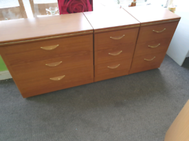 Chest of Drawers and bedside cabinets