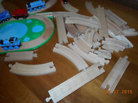 Large Lot of Wood Track and Assessories for Thomas Trains