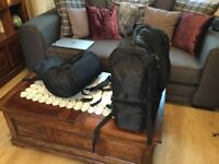 Sissy bar two piece luggage system Motorcycle