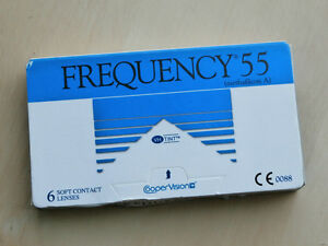 frequency 55 CooperVision Contact lenses- 6 Lenses/ EXP: 2018