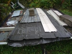 ASSORTED STEEL ROOFING AND LUMBER