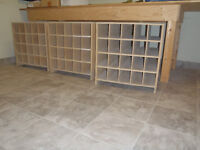 Wooden Storage Containner for rolled paper  plans