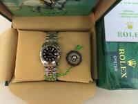 LADIES ROLEX OYSTER DATEJUST PERPETUAL Automatic Watch, black dial two tone