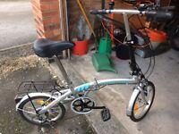 Portable foldaway bike