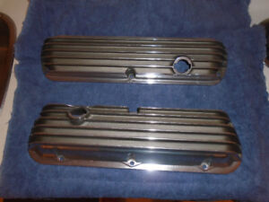 Vintage Ford Cal Custom Polished Finned Aluminum valve covers!