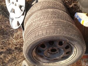 Dodge winter tire rims and hubcaps
