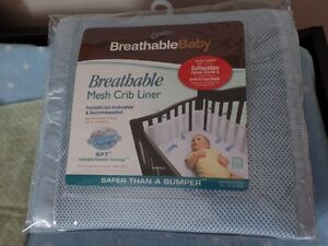 'Breathable Baby' mesh crib liner