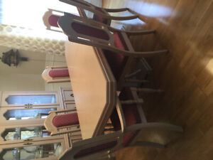Dining Table + Buffet and Hutch and 6 chairs