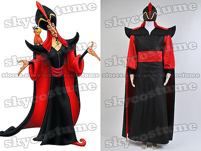 Aladdin The Return of Jafar Robe Cape Cloak Hat Wizard Costume Cosplay Outfit - Jafar Adult Costume