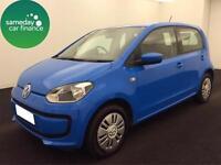 £127.81 PER MONTH BLUE 2014 VW UP 1.0 MOVE UP 5 DOOR PETROL MANUAL