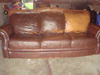 LEATHER COUCH ,CHAIR AND DRESSER,COFFEE TABLE