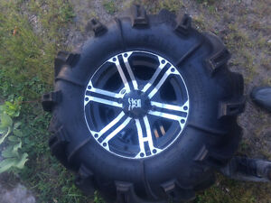 XMR/Outlander rims and tires 30x9x14 Silverbacks with ITP rims