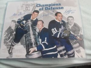 1967 TORONTO MAPLE  LEAFS CHAMPIONS  OF DEFENCE  27.5 X22.5 PICT