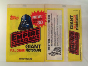 Empire Strikes Back 1980 Topps Giant Photocard Set  of 30