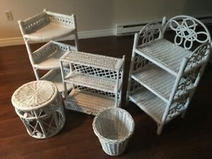 WICKER ACCENT FURNITURE PIECES