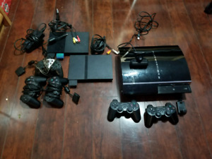 Playstation 3, & 2 ps2 slims with games etc$250 obo
