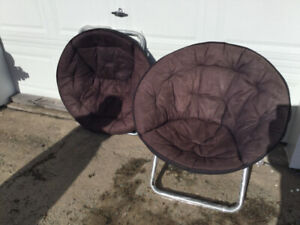 MOON CHAIRS (2) NEW ADULT $65 FOR BOTH