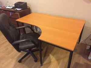 Desk for sale & chair for sale