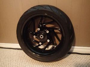 BMW F800R Rear Wheel and Tire