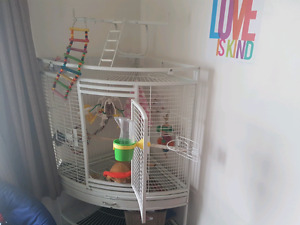 PARROT CAGE /BEAUTIFUL CORNER CAGE