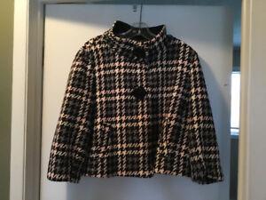 Ladies poncho style winter coat