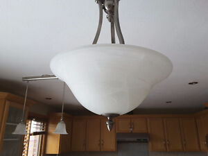Counter lights and chandelier both for  $50