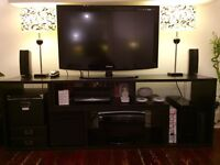"""HD Samsung TV 40"""", DVD player and Home Theatre"""