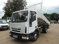 2013 IVECO EUROCARGO 75 E 16 K TIPPER 7.5 TONNE ONLY 43000 MILES (69000 KMS) TIP