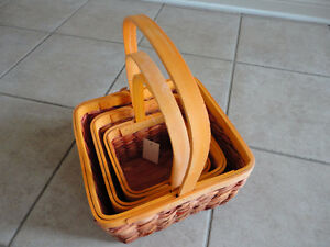 Brand new with tags set of 3 orange colour nesting baskets decor London Ontario image 4