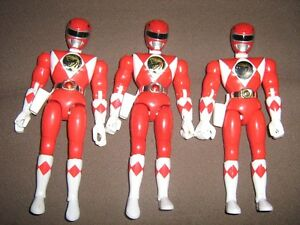 MIGHTY MORPHIN POWER RANGERS RED RANGER FIGURE LOT