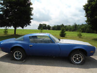 '76 Firebird comes with lots of parts