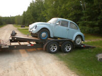 Empty car trailer coming back from BC end of the month