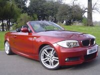 * * BMW 118i M-SPORT - CONVERTIBLE - RED / 2009 - LOW MILES* *