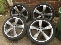 Audi s4 20 inch alloy wheels. With OK tyres genius Audi alloys