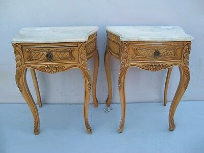 Beautiful Antique Pair of French Louis XV Nightstands - 10333