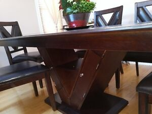 formal solid wood dining table - 6 chairs Windsor Region Ontario image 2
