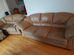 3 piece leather sofa loveseat recliner