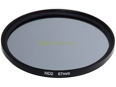 67mm. Filtro neutral density ND 2. ND2 filter.