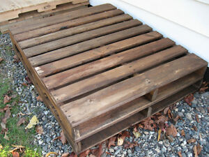 Heavy Duty large pallet coffee table $198.
