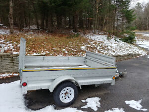 Galvanized 5×7 Marathon Utility trailer with ramp
