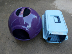 Cat's litter box with cover and filter