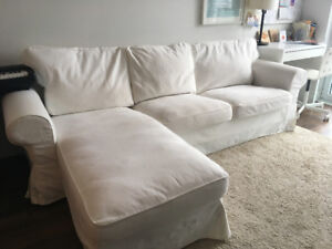 EKTORP loveseat and chaise longue