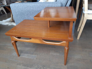 Pair of Mid Century Modern Tiered Tables - CDN Made