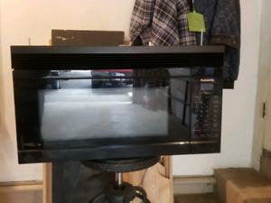 Black Panasonic Over the Range Microwave