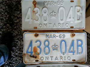 Old license plates etc