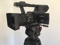 Panasonic HPX 170 HD camera, tripod and lot of extras.